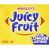 Wrigley - Juicy Fruit, Slim, 15 Stick Pack, 10 Count