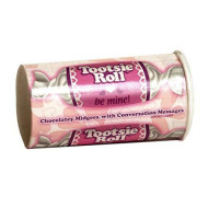 Tootsie Roll Midgees with Valentines Day Message