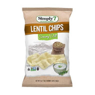 Simply7 Gluten Free Lentil Chips, Creamy Dill, 4 Ounce (Pack Of 12)