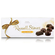 Russell Stover Assorted Dark Chocolates 12 Ounce Boxes (Pack of 3) Russel Stover Assorted Dark Chocolates Box; An Assortment of Nutty, Chewy, and Crispy Chocolate Covered Candies in Dark Chocolate