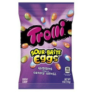 Trolli Sour Brite Eggs Gummy Candy, 4 Ounce Bag, 12 Pack