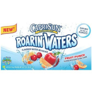 Capri Sun Roarin'Waters Flavored Water Beverage, Fruit Punch, 10 - 6 Ounce Pouches, (Pack Of4)
