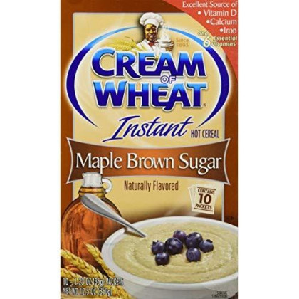 Cream Of Wheat, Instant Hot Cereal, Maple Brown Sugar, 1 Box Of 10 Packets
