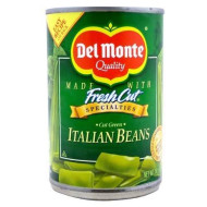 Del Monte Green Beans, Italian Cut, 14.5-Ounce (Pack Of 12)