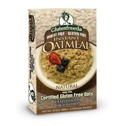 Glutenfreedas Instant Oatmeal Natural Plain, 10.5-Ounce (Pack of 4)