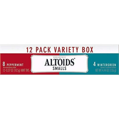Altoids Smalls Sugarfree Mints Variety Pack, 12 Count, 4.44 Ounce