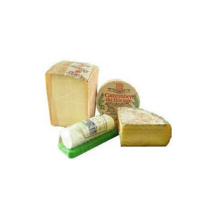 Fromage Marquis French Cheese Sampler Assorted Box - 1.9 Lbs - Camembert, Comte, Tomme De Savoie, Buchette Nostalgie + Gift