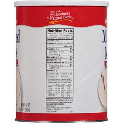 Carnation Malted Milk, 40 oz Can (Dry Shelf Stable Malted Milk, Great for Baking, Shakes, Sundaes)