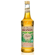 Monin - Organic Agave Syrup, Sweet And Full Flavor, Great For Any Beverage, Gluten-Free, Vegan, Non-Gmo (750 Ml)