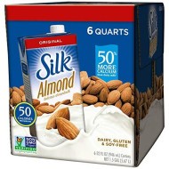 Silk Pure Almond Original, 32-Ounce Aseptic Cartons (Pack Of 6)