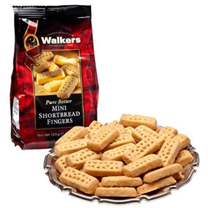 Walkers Shortbread Mini Fingers, 4.4-Ounce (Pack Of 6), Traditional And Simple Pure Butter Shortbread Cookies From The Scottish Highlands, Made With Quality Ingredients, Free From Artificial Flavors