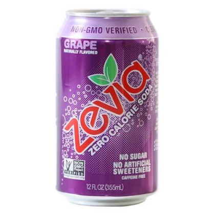 Zevia All Natural Soda, Grape, 12-Ounce Cans (Pack Of 24)