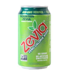 Zevia All Natural Soda, Mountain Zevia, 12-Ounce Cans (Pack Of 24)