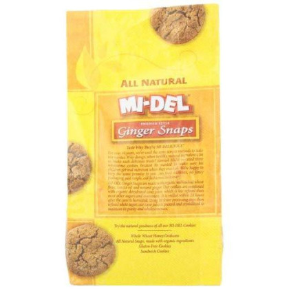 Mi-Del Swedish Style Cookies, Ginger Snaps, 10 Ounce