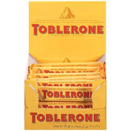 Toblerone Milk Chocolate Bar, 1.23 Ounce (Pack Of 24)