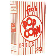 Snappy Popcorn 3E Close-Top Popcorn Box, 100/Case, 6 Pound