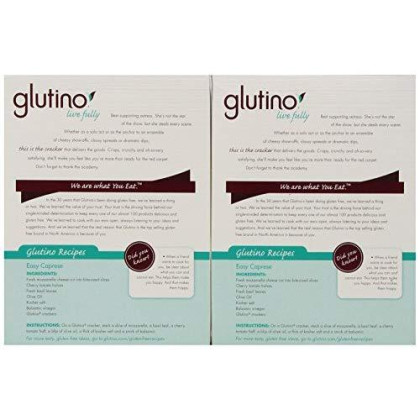 Glutino Gluten Free Crackers, Original, 125 Grams (Pack of 6)