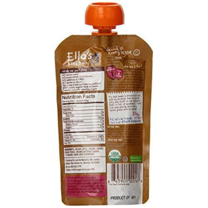 Ella'S Kitchen Organic 6+ Months Baby Food, Apples Carrots Prunes And Butternut Squash, 3.5 Oz. Pouch