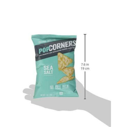 Popcorners Sea Salt Popcorn Chips 1.1 oz. (Pack of 8)