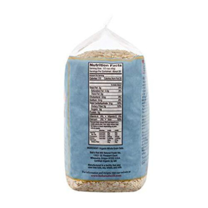 Bob'S Red Mill Organic Quick Cooking Rolled Oats Oatmeal, 32-Ounce (Pack Of 4)