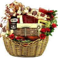 Ribbons And Roses Gift Basket For Her