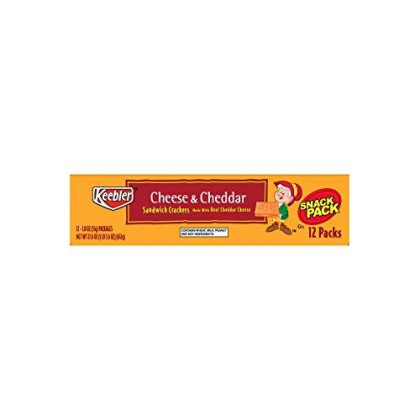 Keebler Cheese and Cheddar Sandwich Crackers, Single Serve, 1.8 oz Packages