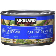 Kirkland Signature chicken breast, packed in water, premium chunk, 6 12.5-ounce cans