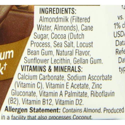 Silk Pure Almondmilk, Dark Chocolate, 8 Ounce, 18 Count, Chocolate Flavored Non-Dairy Almond Milk, Individually Packaged
