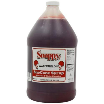 Snappy Popcorn Snappy Snow Conce Syrup 1 Gallon, Watermelon, 11 Pound
