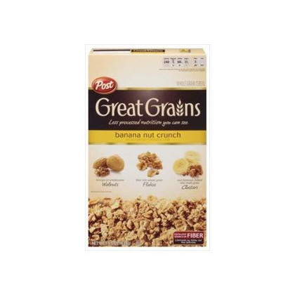 Post Great Grains Banana Nut Crunch Whole Grain Cereal 15.5 oz (Pack of 14)