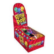 Ring Pop Candy Lollipops, 0.5 Oz (Pack Of 24)
