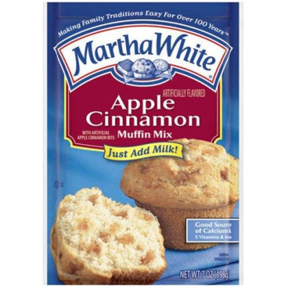 Martha White Apple Cinnamon Muffin Mix, 7-Ounce (Pack of 12)