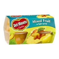 Del Monte Mixed Fruit In Light Syrp 4 - 4 oz cups (Pack of 6)