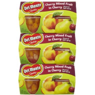 Del Monte Cherry Mixed Fruit In Light Syrp 4 - 4 oz cups (Pack of 6)