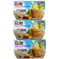 Dole Fruit Bowls with Cherries, 4-Count (Pack of 6)