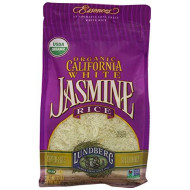 Lundberg Family Farms Organic Jasmine Rice, California White, 32 Ounce (Pack of 6)