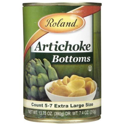 Roland Artichoke Bottoms Extra Large, Can, 13.75 oz