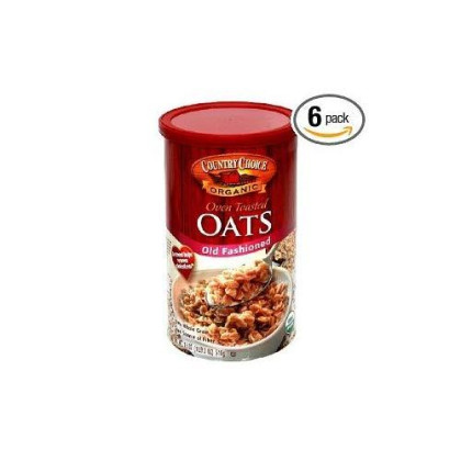 Country Choice Organicorganic Oven Toasted Old Fashioned Oats, 18-Ounce Canisters (Pack Of 48)