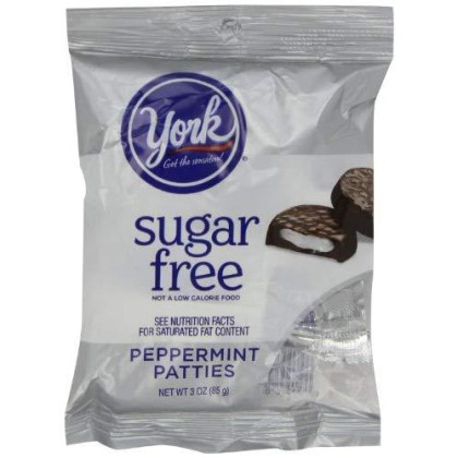 York Peppermint Patties Dark Chocolate Covered Mint Candy, 3 Ounce (Pack Of 12)