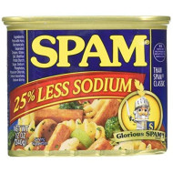 Spam Luncheon Meat 25% Less Sodium 12 oz