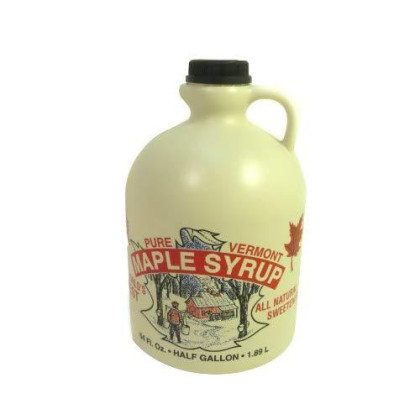 100% Pure Vermont Maple Syrp - Half Gallon (64oz.) Medium Amber/now known as Grade A Amber Rich Taste