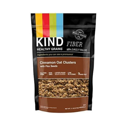 Kind Healthy Grains Clusters, Cinnamon Oat Clusters With Flax Seeds Granola, Gluten Free, Non Gmo, 11 Ounce Bags (Pack Of 3)