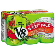 V8 Original Low Sodium Vegetable Juice 5.5Oz 6Pk