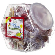 Yummy Earth Counter Bins Assorted Flavors 125+ Count Organic Lollipops