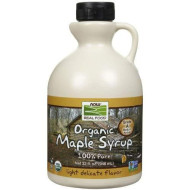 NOW Foods - Grade A Certified Organic Maple Syrp Light - 32 oz.
