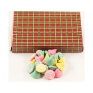 Scott'S Cakes Smooth N Melty Pastel Mints In A 1 Pound Christmas Plaid Box
