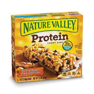 Nature Valley Chewy Granola Bar, Protein, Peanut Butter Dark Chocolate, 5 Bars - 1.4 Oz (Pack Of 4)