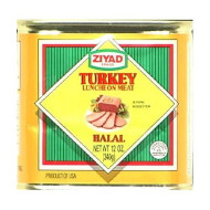Ziyad turkey luncheon meat, Halal, 12-oz. pull top can
