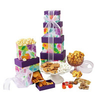 Gourmet Gift Tower with Assorted Sweets and Snacks