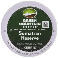 Green Mountain Coffee Fair Trade Organic Sumatran Reserve, K-Cup Portion Pack for Keurig brevers 24-Count